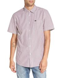 Obey - Purple Adario Stripe Woven Shirt for Men - Lyst