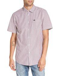 Obey | Purple Adario Stripe Woven Shirt for Men | Lyst
