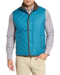 Peter Millar | Blue Essex Quilted Vest for Men | Lyst