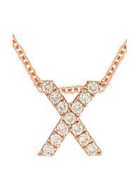 Bony Levy - Metallic Pave Diamond Initial Pendant Necklace (nordstrom Exclusive) - Lyst