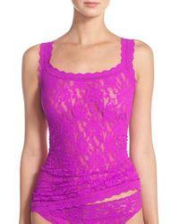 Hanky Panky - Purple 'signature Lace' Camisole - Lyst