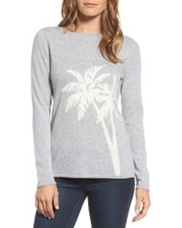 Tommy Bahama - Gray Island Palm Intarsia Cashmere Pullover - Lyst
