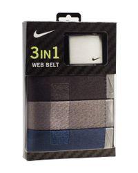 Nike - Natural Web Belts for Men - Lyst