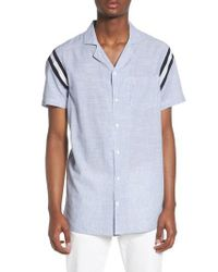 The Rail - Blue Striped Shirt for Men - Lyst