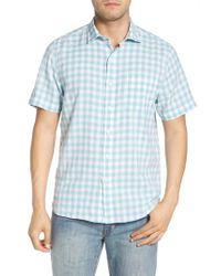 Tommy Bahama - Blue Gingham Del Toro Linen Blend Sport Shirt for Men - Lyst