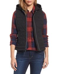 Marc New York | Black Sage Hooded Quilted Vest | Lyst