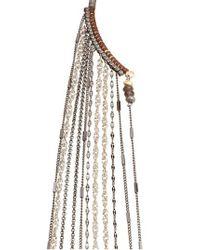 Nakamol - Gray Chain Fringe Half Necklace - Lyst