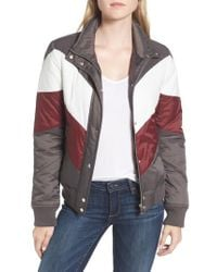 Trouvé - Gray Colorblock Quilted Jacket - Lyst