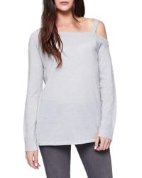 Sanctuary | Gray Camilla One-shoulder Sweater | Lyst