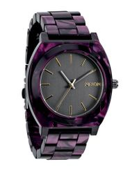Nixon | Purple 'the Time Teller' Watch | Lyst