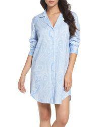 Lauren by Ralph Lauren | Blue Jersey Sleep Shirt | Lyst