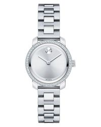 Movado | Metallic 'bold' Diamond Bezel Bracelet Watch | Lyst