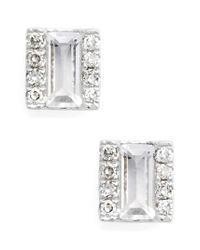 EF Collection - Metallic Stud Earrings - Lyst