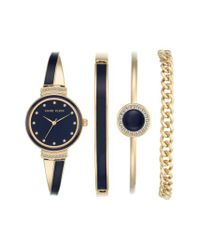 Anne Klein | Blue Bangle Watch & Bracelet Set | Lyst
