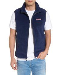 Vineyard Vines - Blue Fleece Vest for Men - Lyst