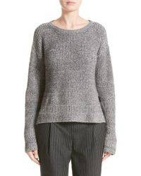 Fabiana Filippi | Gray Herringbone Stitch Wool Blend Sweater | Lyst