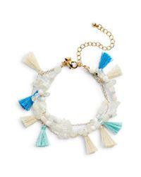 Rebecca Minkoff - Multicolor Layered Tassel Bracelet - Lyst