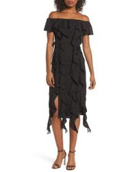 C/meo Collective - Black Dream State Off The Shoulder Sheath Dress - Lyst