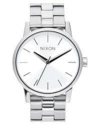 Nixon - Metallic 'kensington' Bracelet Watch - Lyst