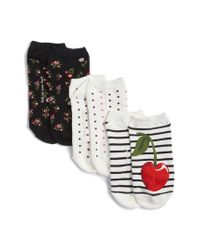 Kate Spade | Multicolor 3-pack No-show Socks, Ivory | Lyst