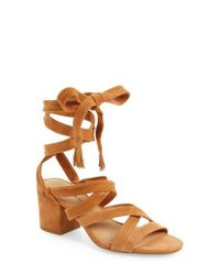 Lucky Brand - Brown Idalina Block Heel Sandal - Lyst