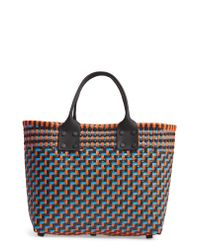 Truss - Blue Small Woven Tote - Lyst