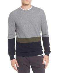 Ben Sherman - Gray Textured Colorblock Sweater for Men - Lyst