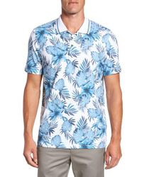 Ted Baker   Blue Course Floral Print Modern Slim Fit Polo for Men   Lyst