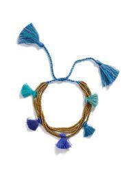 Serefina - Blue Dacing Tassel Bracelet - Lyst