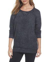 Caslon - Gray Caslon Burnout Sweatshirt - Lyst