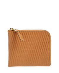 Comme des Garçons | Natural Half Zip French Wallet for Men | Lyst