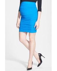Tees by Tina | Blue 'line' Maternity Skirt | Lyst