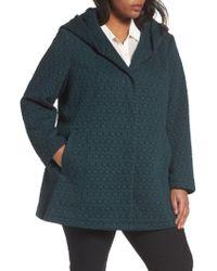 Gallery - Blue Cozy Knit Coat - Lyst