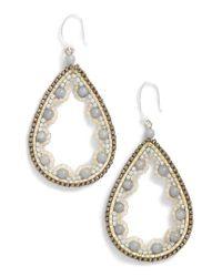 Nakamol - White Beaded Agate Teardrop Earrings - Lyst