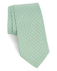 Ferragamo - Green Graphic Silk Tie for Men - Lyst