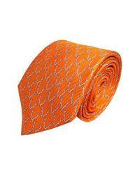 Lazyjack Press - Orange Buckwild Silk Tie for Men - Lyst