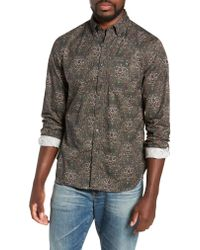 Todd Snyder - Gray Classic Fit Thomas Mason Floral Sport Shirt for Men - Lyst