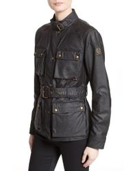 Belstaff | Black 'roadmaster' Waxed Cotton Coat | Lyst