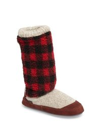Acorn - Brown Slouch Slipper Boot - Lyst