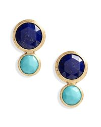 Marco Bicego - Blue Jaipur Lapis & Turquoise Stud Earrings - Lyst