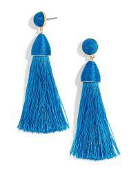 BaubleBar - Blue Rosabella Tassel Drop Earrings - Lyst