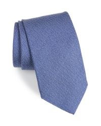 David Donahue - Blue Solid Silk Tie for Men - Lyst