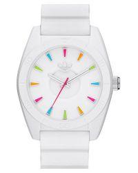 Adidas Originals - White 'santiago' Silicone Strap Watch - Lyst