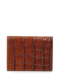 Martin Dingman - Brown Leather Id Wallet - Lyst