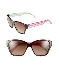 Lilly Pulitzer | Lilly Pulitzer 'flora' 57mm Polarized Sunglasses - Dark Tortoise/ Crystal Pink | Lyst