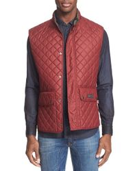 Belstaff | Red Technical Quilted Vest for Men | Lyst