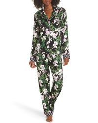 Pj Salvage - Black Floral Print Pajamas - Lyst