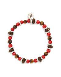 Eleventy - Red Bead Bracelet - Lyst