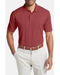Cutter & Buck | Red 'genre' Drytec Moisture Wicking Polo for Men | Lyst