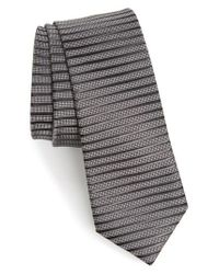 Calibrate   Gray Brewer Stripe Silk Tie for Men   Lyst
